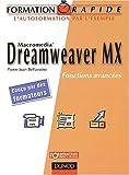 echange, troc Jean-Christophe Marie - Dreamweaver MX : Fonctions avancées