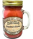 Grandma's Kitchen Scented 13 oz Mason Jar Candle - Made in the USA by Our Own Candle Company