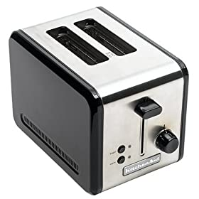 KitchenAid KMTT200OB 2-Slice Metal Toaster, Onyx Black and Stainless Steel