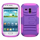 MyBat ASMYNA Samsung G730A (Galaxy S III mini) Advanced Armor Stand Protector Cover - Retail Packaging - Purple/Pink