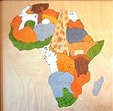 GEORGE LUCK(イギリス)木製パズル「MAPアフリカ」専用額付