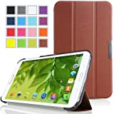 MoKo Samsung Galaxy Tab 3 8.0 Case - Ultra Slim Lightweight Smart-shell Stand Cover Case for Galaxy Tab 3 8.0 inch SM-T3100 / SM-T3110 Android Tablet, COFFEE (WILL NOT Fit Samsung Galaxy Tab 4 8.0)