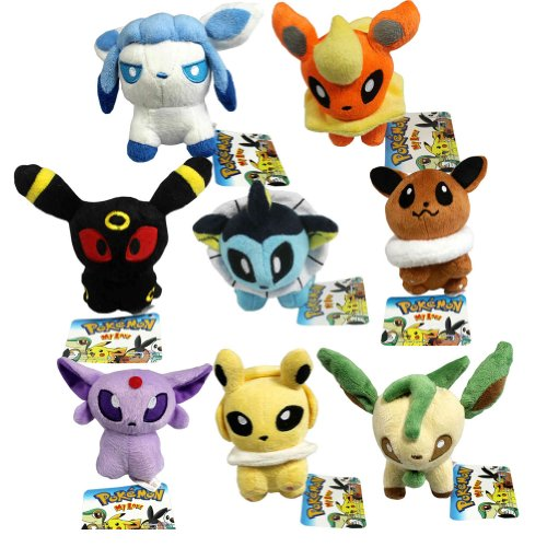 POKEMON-SET-8-PELUCHES-15cm