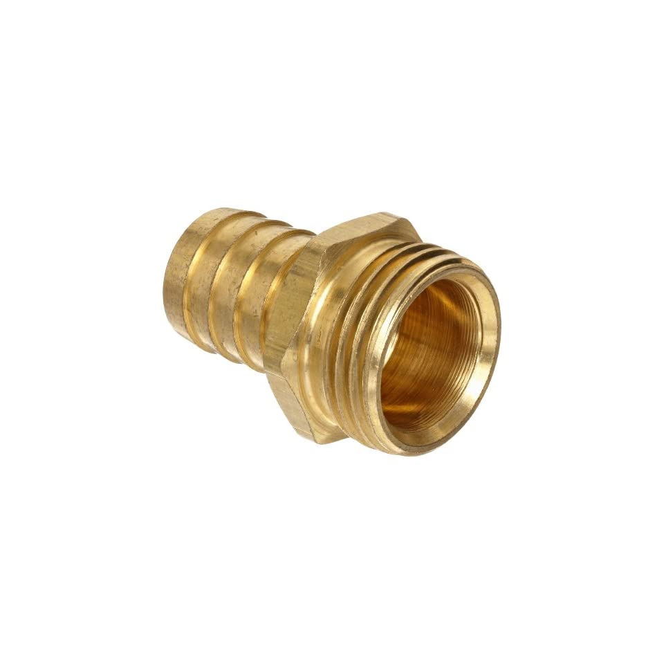 Brass Garden Hose Fitting, Connector, 5/8 Barb x 3/4 Male Hose