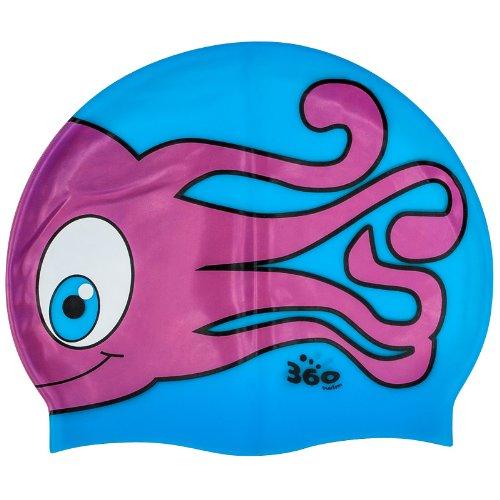 New 360 Junior Fun Swim Silicone Pool Cap Kids Swimming Hat - Jen Jen Jellyfish