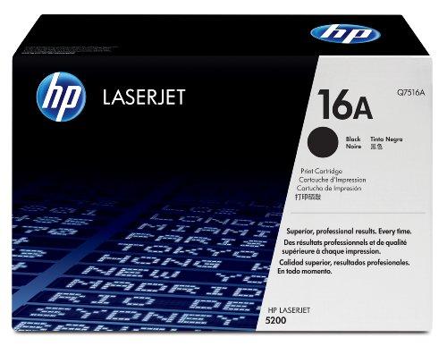 Toner original pour hp LaserJet 5200/5200DTN, noir capacité: env. 12.000 pages (Q7516A) 5200TN
