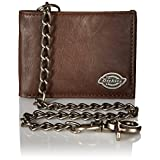 Dickies Men's Slimfold Wallet with Chain, Brown, One Size