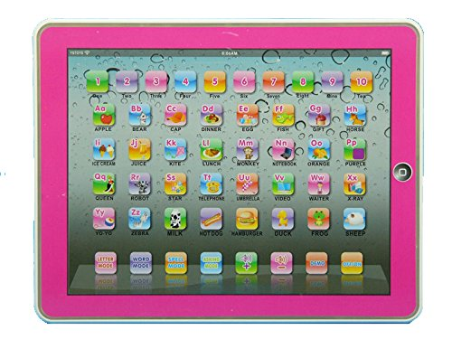 Hot English Learning Touch Tablet Computer For Children Baby Educational Toy / Pink Color