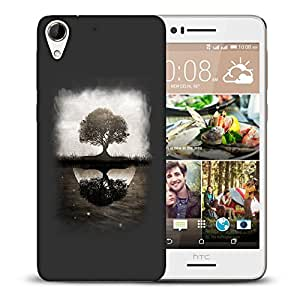 Snoogg Reflection Of Tree Designer Protective Back Case Cover For HTC DESIRE 728 DUAL SIM