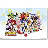 """Sonic The Hedgehog - TV Show Poster (The Whole Gang) (Size: 36"""" x 24"""")"""