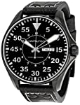 Hamilton Men's H64785835 Khaki King Pilot Black Dial Watch from Hamilton