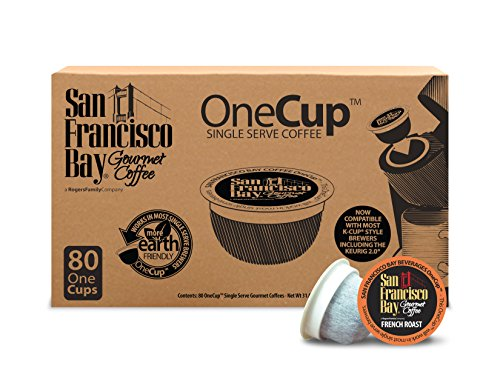 San Francisco Bay OneCup, French Roast, 80 Single Serve Coffees (San Francisco Bay Keurig Coffee compare prices)