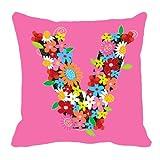 MeSleep Digitally Printed Valentine Cushion Cover - Pink (60-valentine)