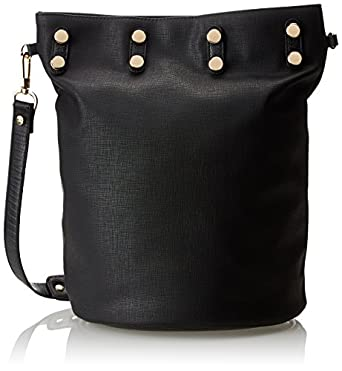 French Connection Gypsy Bucket Shoulder Bag,Black,One Size