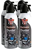 Dust-Off 10 oz Compressed Gas Duster, 4 Pack (DPSXL4)