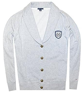 Tommy Hilfiger Women Shawl Collar Blazer Jacket (XXL, Light grey)