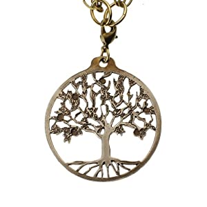 Tree of Life Peace Bronze Pendant Necklace on 18-36