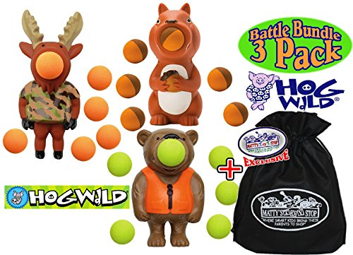 Hog Wild Bear, Moose & Squirrel Poppers Gift Set Battle Bundle with Exclusive