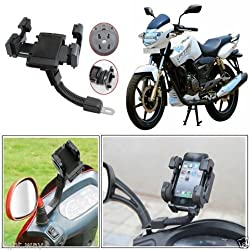IndiSmack 360 Rotating Adjustable Motorcycle Scooter Bike Mobile Phone PDA GPS Holder Stand Mount