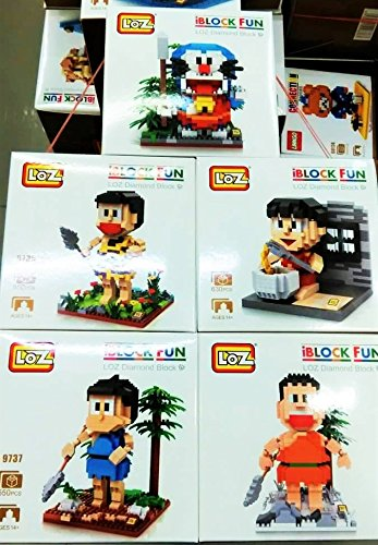 New Building Blocks 5 Sets Doraemon Nanoblock Diamond Block Party Supplies Nobita Shizuka Gian Suneo Japan Classic Manga Anime Gift with Original Box