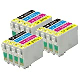 3 Sets of Compatible Printer Ink Cartridges to replace T0715 / T0895 (12 Inks) - Black / Cyan/ Magenta / Yellow for use in Epson Stylus D78 D92 D120 DX4000 DX4050 DX4400 DX4450 DX5000 DX5050 DX6000 DX6050 DX7000F DX7400 DX7450 DX8400 DX8450 DX9400 DX9400