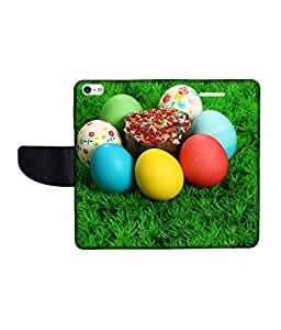 KolorEdge Printed Flip Cover For Apple IPhone 5 Multicolor - (43KeMLogo09738IPhone5)
