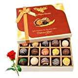Valentine Chocholik's Belgium Chocolates - Best Festive Truffles Collection With Red Rose