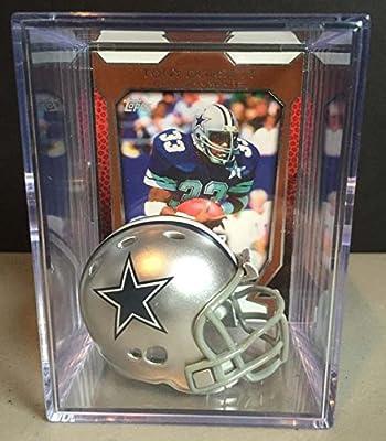 Dallas Cowboys NFL Helmet Shadowbox w/ Tony Dorsett card