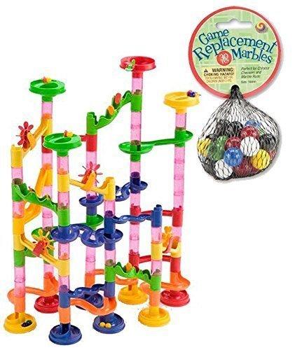 Mega-Fun-Marble-Run-75-Piece-Set-plus-60-Marbles-Total-135-Pc-Set