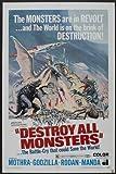 Destroy-All-Monsters-Poster-Movie-B-11x17-Akira-Kubo-Jun-Tazaki-Yukiko-Kobayashi-Yoshio-Tsuchiya