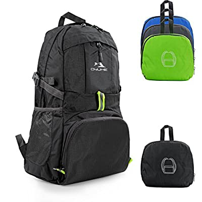 Qyuhe 35L Packable Ultra Lightweight Travel Traveling Hiking Backpack Daypack for Men and Women