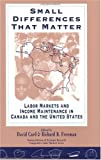 img - for Small Differences That Matter: Labor Markets and Income Maintenance in Canada and the United States (National Bureau of Economic Research Comparative Labor Markets Series) book / textbook / text book