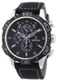 Festina Men's Chronograph Watch F16566/3 with Other Strap and Black Dial