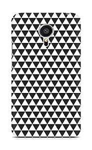 AMEZ Black n White Pattern5 Back Cover For Meizu MX5