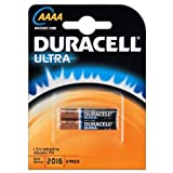 2 x Duracell Ultra AAAA Batteries 1.5V MN2500 E96 Alkaline EXPIRY 2016 or better