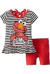 Sesame St Baby Girls' Elmo 2 Piece T Shirt Set
