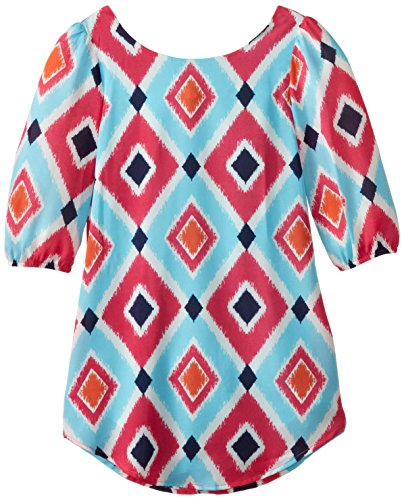My Michelle Big Girls' Printed Shift Dress  Bow