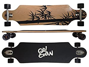 "Deluxe Longboard MAXOfit® ""Crow No.12"", 103 cm, 9 Schichten kanadischer Ahorn, Drop Through, 41x9,8"""