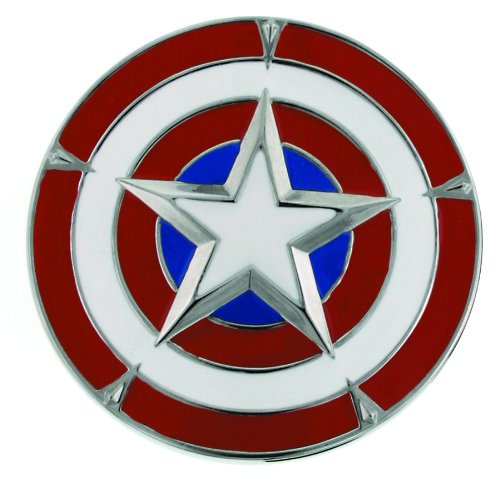 Jewel M Captain America's Shield Belt Buckle