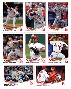 2013 Topps Baseball St. Louis Cardinals Master Team Set (SEALED) (Series 1, Series 2 plus Update Series) - 37 Cards!