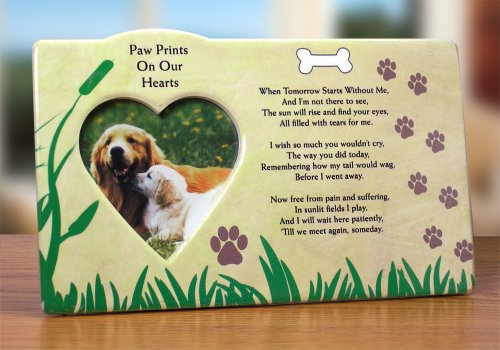 Dog Bereavement Memorial Photo Frame Inspirational Picture Frame (Dog Picture Frame Memorial compare prices)
