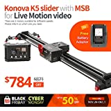 Konova K5 120 (47.2 Inch) Slider with MSB for Live Motion Video (Including Slider)