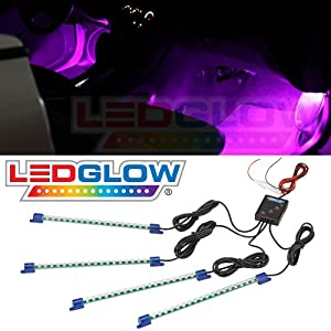 4pc. Pink LED Interior Underdash Lighting Kit from LEDGLOW