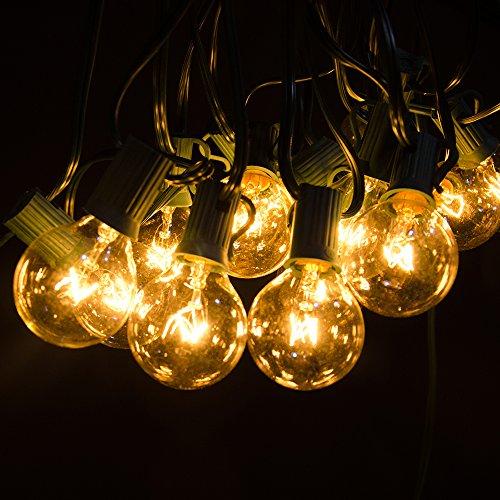 Ourdoor String Lights - Noza Tec 25Ft G40 Globe Patio String Lights Decorative Indoor Outdoor Lighting for Garden Patio Backyard Bedroom Wedding Christmas Party with 3 Replacing Bulbs (Green) (Electric Garden Lights compare prices)