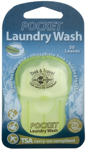 Sea To Summit Trek & Travel Pocket Laundry Wash (50 Leaves/ .5 Ounce)