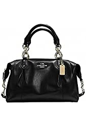 Coach F33806 Colette Black Leather Satchel