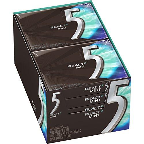 5-gum-react-mint-sugarfree-gum-10-packs-150-pieces-total