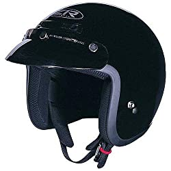 Z1R Solid Adult Jimmy Harley Motorcycle Helmet - Black / Small