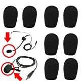 20mm Headset & Lapel Lavalier Microphone Windscreens – 8 Pack for $3.88 + Shipping