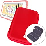 """Coque housse rigide de protection en EVA rouge résistant à l'eau pour tablette tactile enfant Videojet KidsPad 3 (écran 7"""")"""